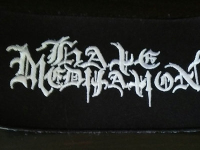 HATE MEDITATION Embroidered logo patch main photo