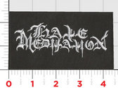 HATE MEDITATION Embroidered logo patch photo