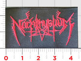NACHTMYSTIUM red logo embroidered patch photo
