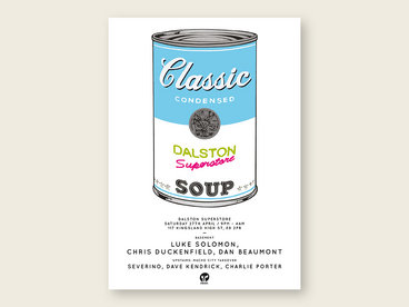 CLASSIC POSTER PRINT - BLUE SOUP CAN main photo