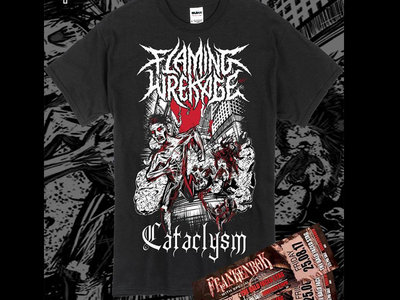 Frankenbok Ticket 25/08 WITH Flaming Wrekage 'Cataclysm' T main photo