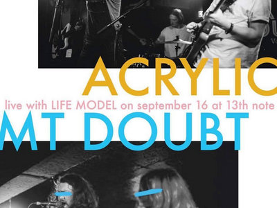 """Acrylic and Mt. Doubt - AA side 7"""" launch gig - 13th Note, Glasgow main photo"""