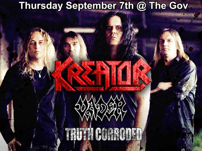 Kreator / Vader / Truth Corroded Ticket - Adelaide main photo