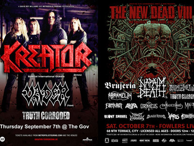 Adelaide Kreator / Vader ticket and The New Dead #8 Ticket Bundle main photo