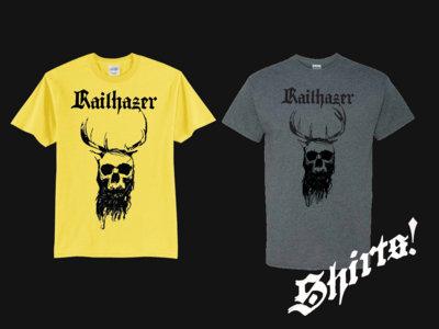 Railhazer - Horned King T-Shirt [Black on Yellow & Black on Heather Grey] main photo