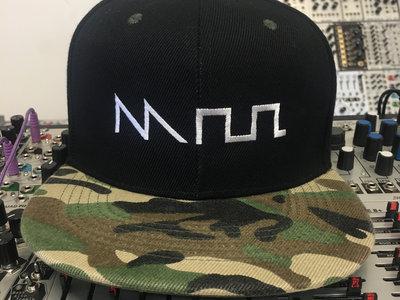 """Acid"" Waveform Hat (Snapback Flat Bill) in CAMO main photo"