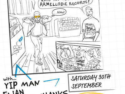 Armellodie is 10 @ The Glad Cafe, Glasgow (w/ Yip Man, Ewan Cruickshanks, Cuddly Shark and Galoshins) main photo