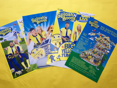 Four Colourful Signed Splash'N Boots 11X17 Poster Pack main photo