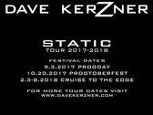 Dave Kerzner Static Tour 2017-2018 T-Shirt photo
