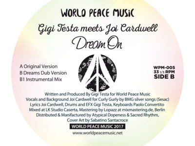 "Gigi Testa Meets Joi Cardwell - Dream On - 12"" Vinyl Release. SOLD OUT! main photo"