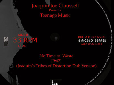 """Joaquin Joe Claussell Presents: Teenage Music """" Them Days are Gone / No Time to Waste - 12"""" Vinyl Release main photo"""