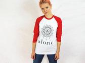 'ALORIC' Baseball T-Shirt - Red // Unisex photo