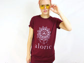 'ALORIC' Longline Burgundy T-Shirt // Unisex photo