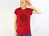 'ALORIC' Heather Red T-Shirt // Unisex photo
