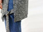 'ALORIC' Longline Belted Grey t-shirt // Unisex photo