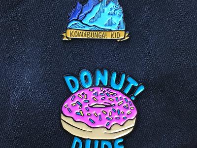 """""""Wasting My Time"""" + """"Donut! Dudes"""" Enamel Bundle main photo"""