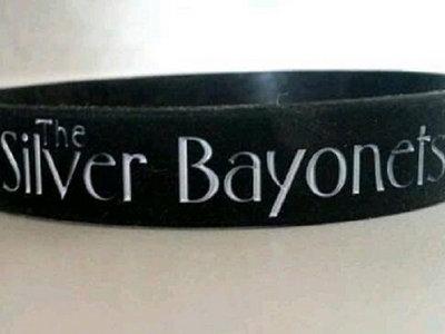 "x3 Black/White ""The Silver Bayonets"" Wristbands main photo"