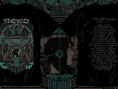 'A tour for freedom' Europe 2017 T-shirt main photo
