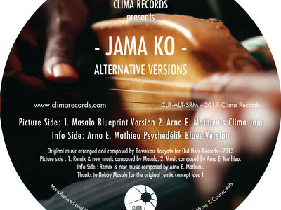 "Clima Records Presents: JAMA KO - Alternate Versions  -12"" Vinyl Release. main photo"