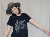 Navy Blue Rabbit T-Shirts - Womens photo