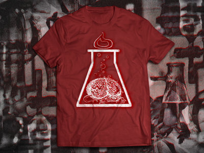 Brain Experiment Metafiziq T-shirt, Red main photo