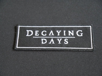 """""""Decaying Days"""" Embroidered Patch 90x35 mm main photo"""