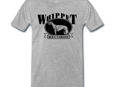 Whippet Records 'Logo' Design T-Shirt (Black Print on Grey) main photo