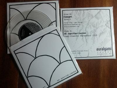 "Damages / GX Jupitter-Larsen Split 7"" Lathe Cut main photo"