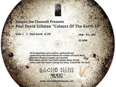 "Paul Gillman presents Colours of the Earth Ep 12"" Vinyl Release main photo"