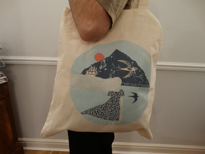 HALF PRICE: Cream cotton tote bag with Distant Havens album artwork main photo