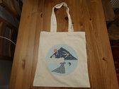 HALF PRICE: Cream cotton tote bag with Distant Havens album artwork photo