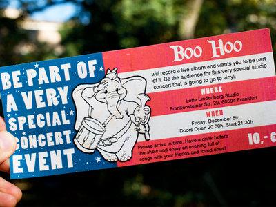 "Ticket ""Boo Hoo live album recording session"" main photo"