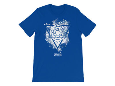 Seth Grym – 'Framework' Shirt – White on Blue main photo