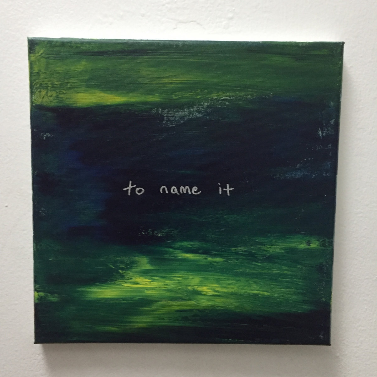 to name it painting 007 10x10 acrylic on canvas steel tipped dove