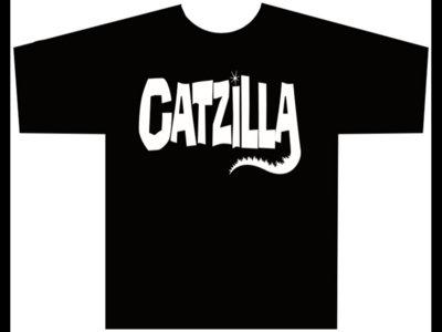 Catzilla logo T-shirt  ONLY SIZE XS left main photo