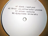 "Slamb / Tilman / Enliven / DJ Psychiatre (WHYTENUMBERS004) 12"" Vinyl (incl. Download) photo"