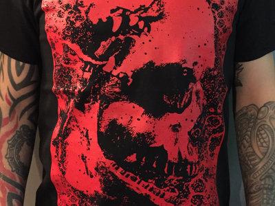 Stitches t-shirt (red on black) main photo