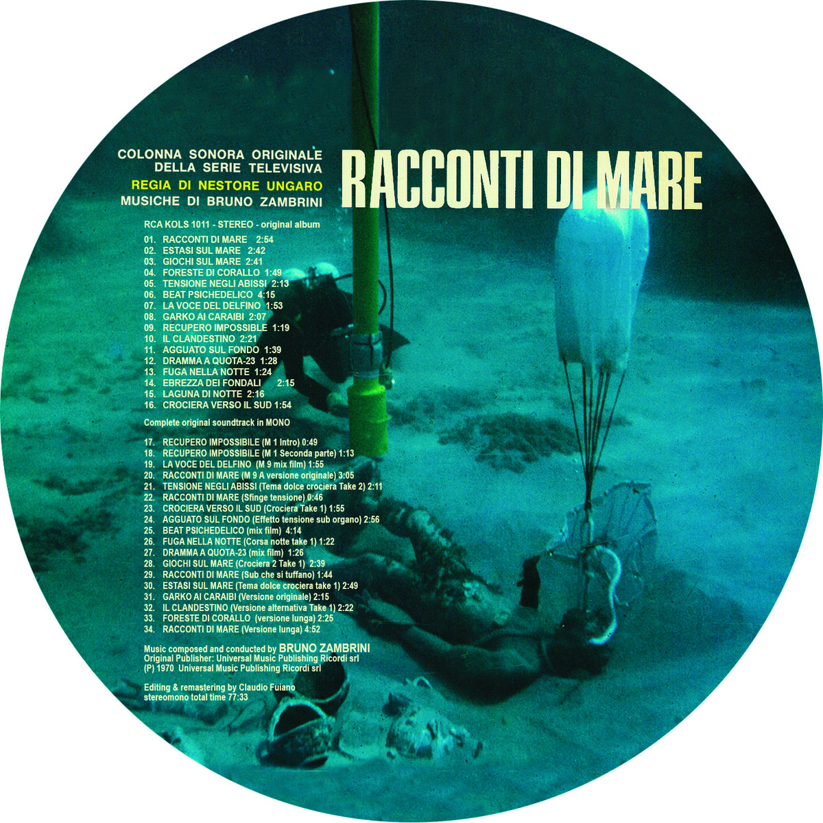 Racconti di mare sonor music editions limited edition 180 grams vinyl including the complete stereo recording session plus the full unreleased mono rca version hard cardboard quality sleeve publicscrutiny Image collections