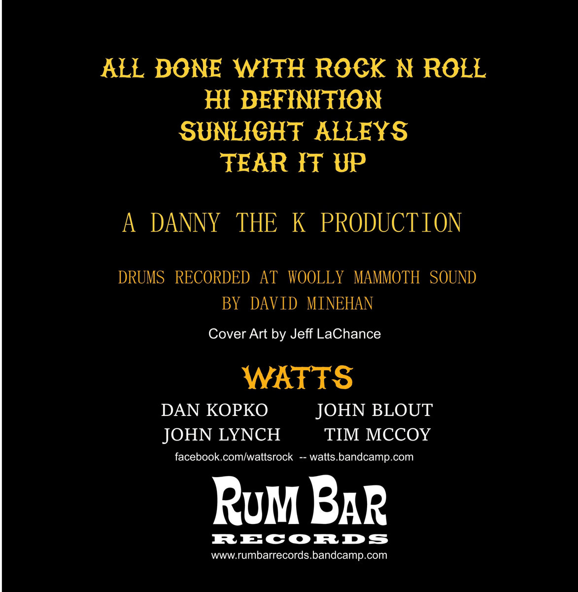 all done with rock n roll | rum bar records