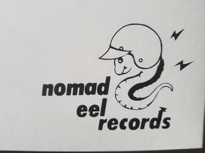 Nomad Eel Records logo concept button by Eric Von Munz main photo