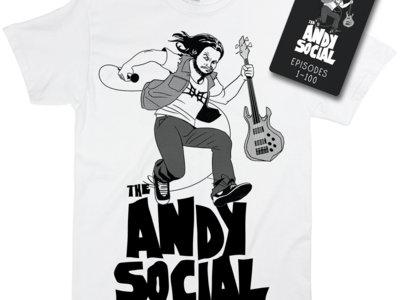 The Andy Social White Bundle - T-Shirt + USB Drive main photo