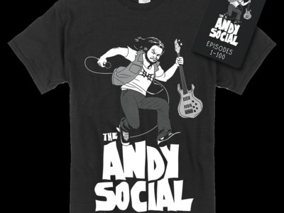 The Andy Social Black Bundle - T-Shirt + USB Drive main photo