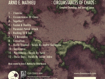 Arno E. Mathieu:  Circumstance of Chaos: Complete Chronology, And Survival Space - CD Release. main photo