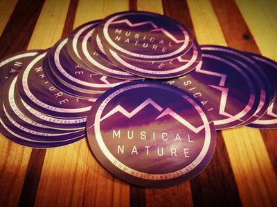 musical nature vinyl round stickers main photo