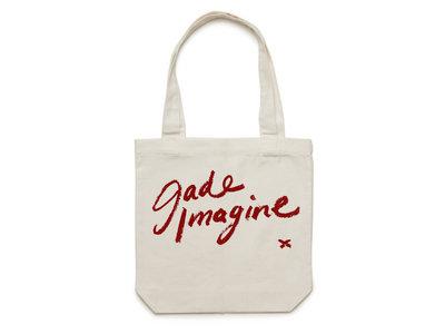 Jade Imagine Lipstick Writing Tote Bag main photo