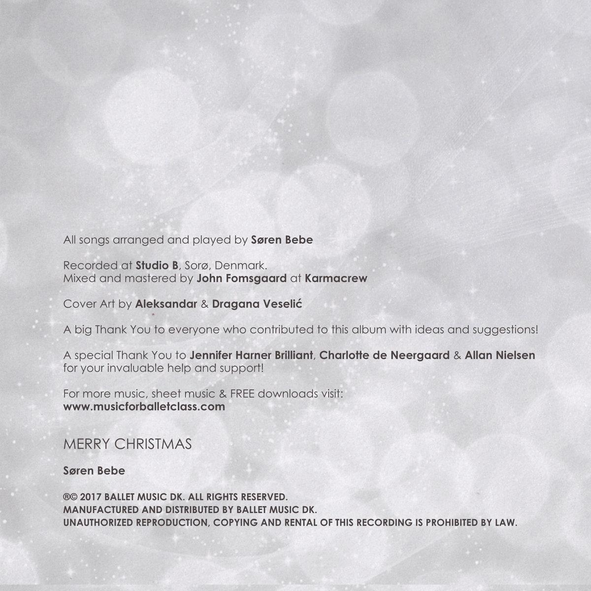 Christmas Music for Ballet Class | Søren Bebe