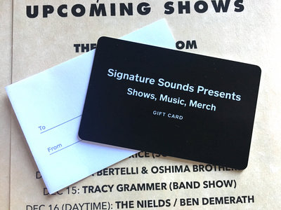 $50 Gift Card (Signature Sounds Presents) main photo