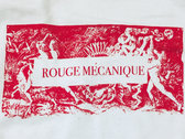 Rouge Mécanique organic front and back silkscreened T-shirt photo
