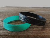 """Against The Tide"" - Rubber Bracelet (Green) photo"