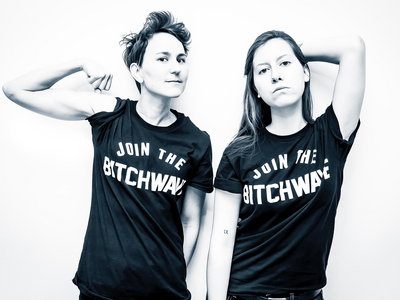 Join The Bitchwave shirt in black main photo